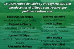 LABTER Internacional Taller de Retroalimentación con actores territoriales (20 de mayo 2021) La IBERO (o UNIQUINDIO o UCALDAS) y el Proyecto SUS-TER agradecemos el diálogo constructivo que pudimos realizar con